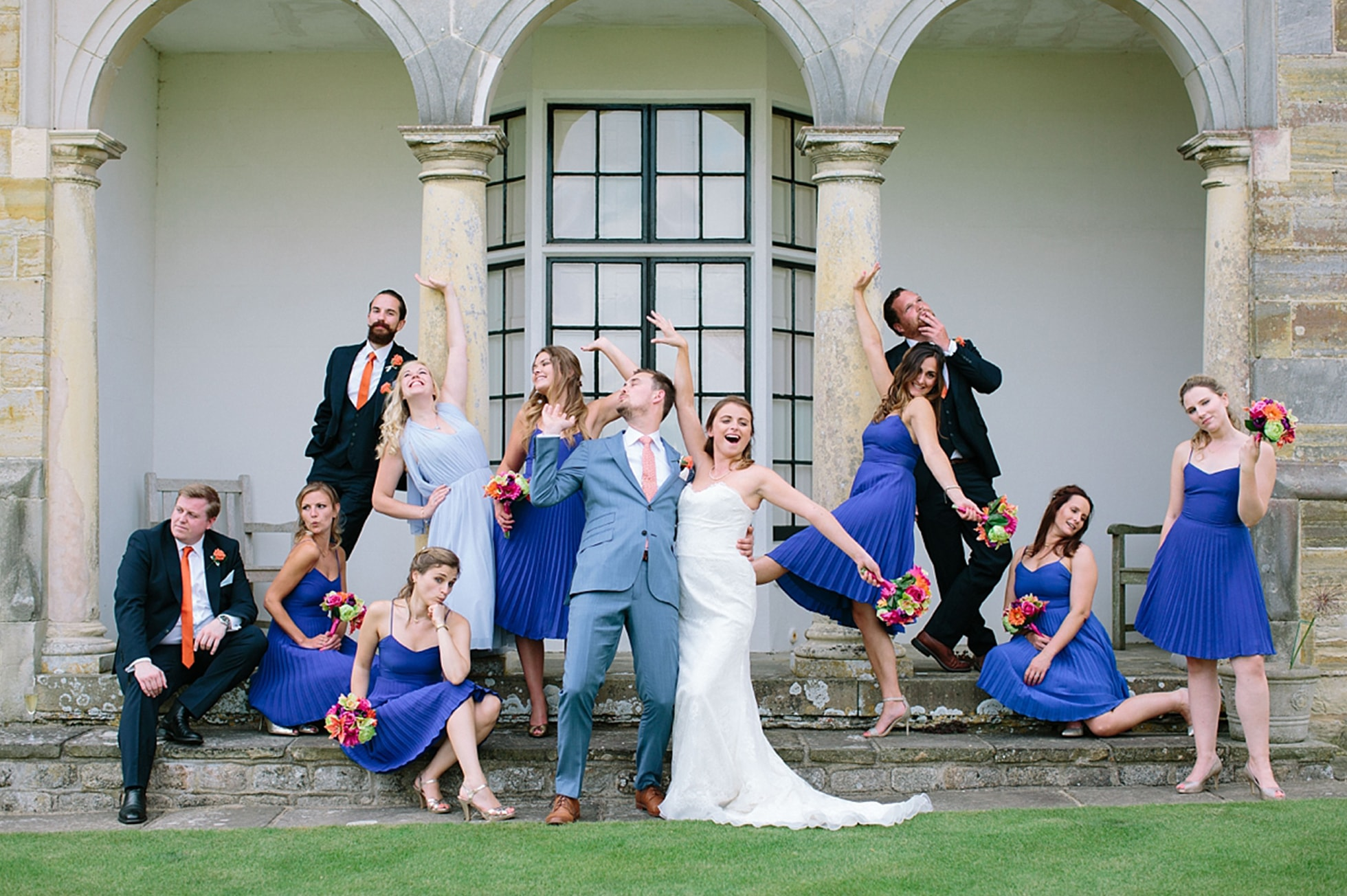 Group photo of wedding party
