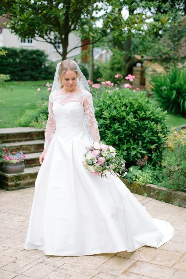 Natural bridal portrait captured by Stansted House wedding photographer