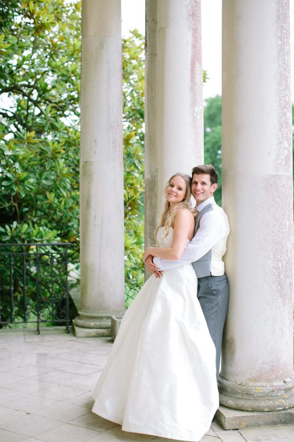 Romantic and elegant photograph of bride and groom at Stansted House captured by Stansted House wedding photographer