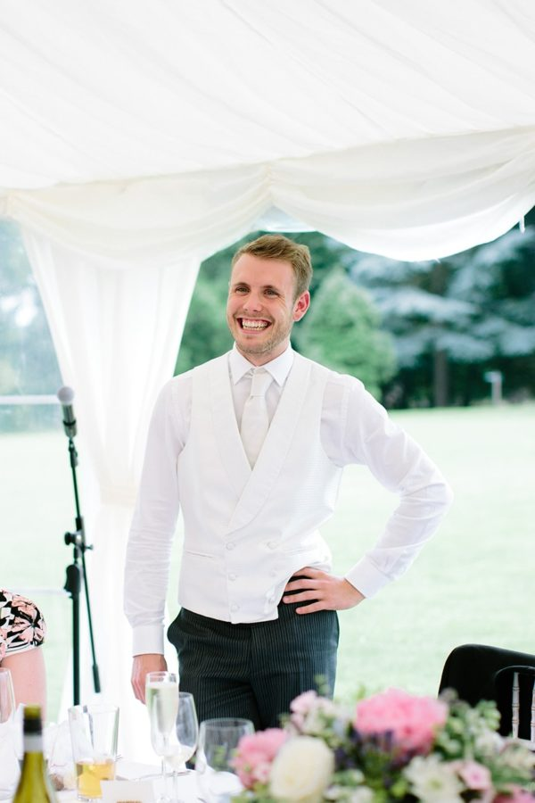 Brother of the bride giving speech at Stansted House wedding
