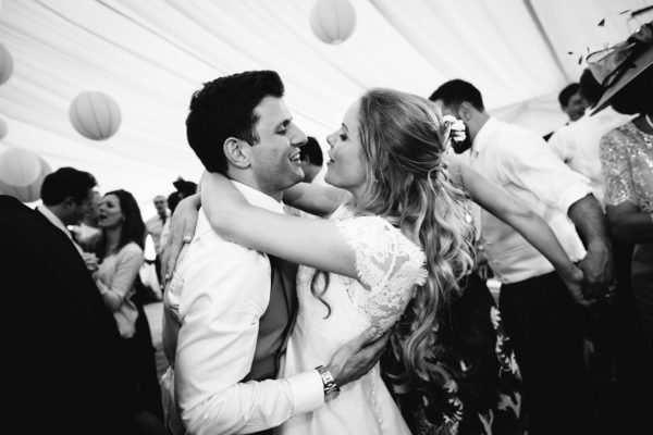 Bride and groom dancing at Stansted House captured by Stansted House wedding photographer Camilla Arnhold