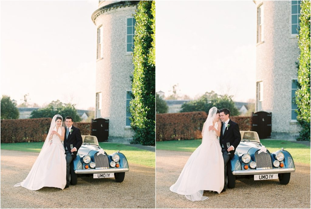 Bride and groom at Goodwood House wedding