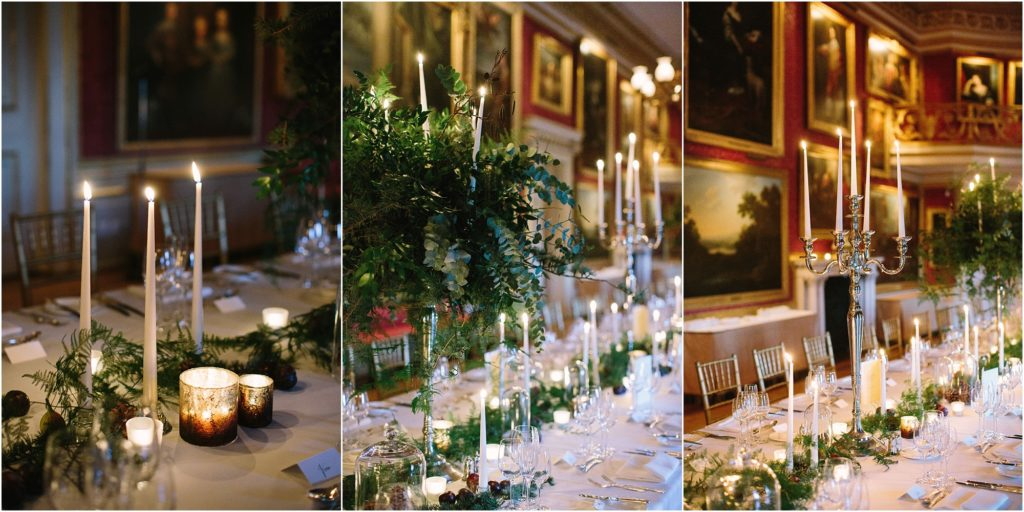 Dining room at Goodwood House wedding