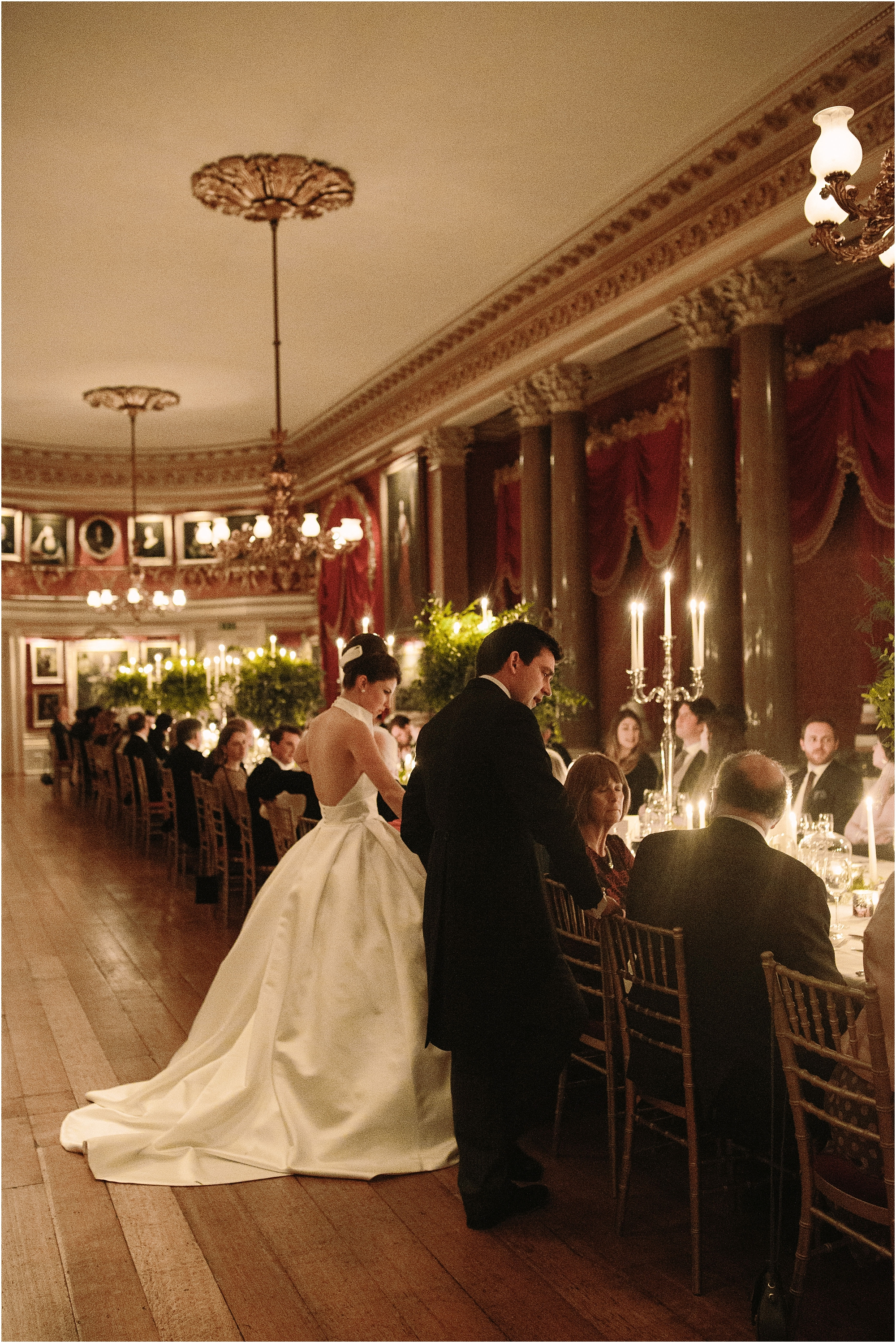Speeches at Goodwood House wedding