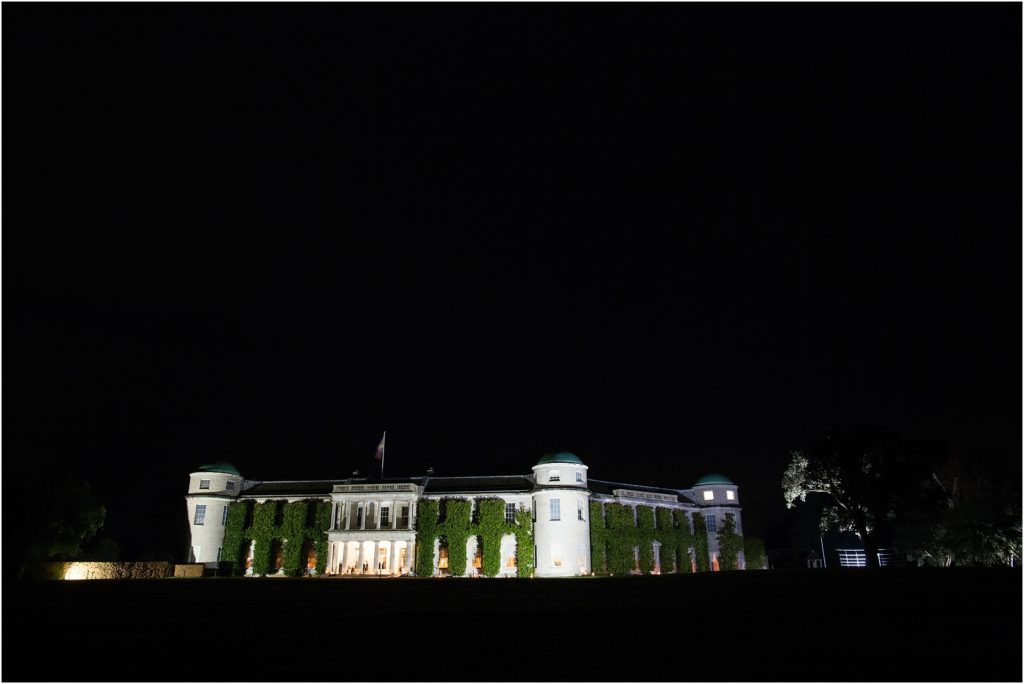 Goodwood House by night