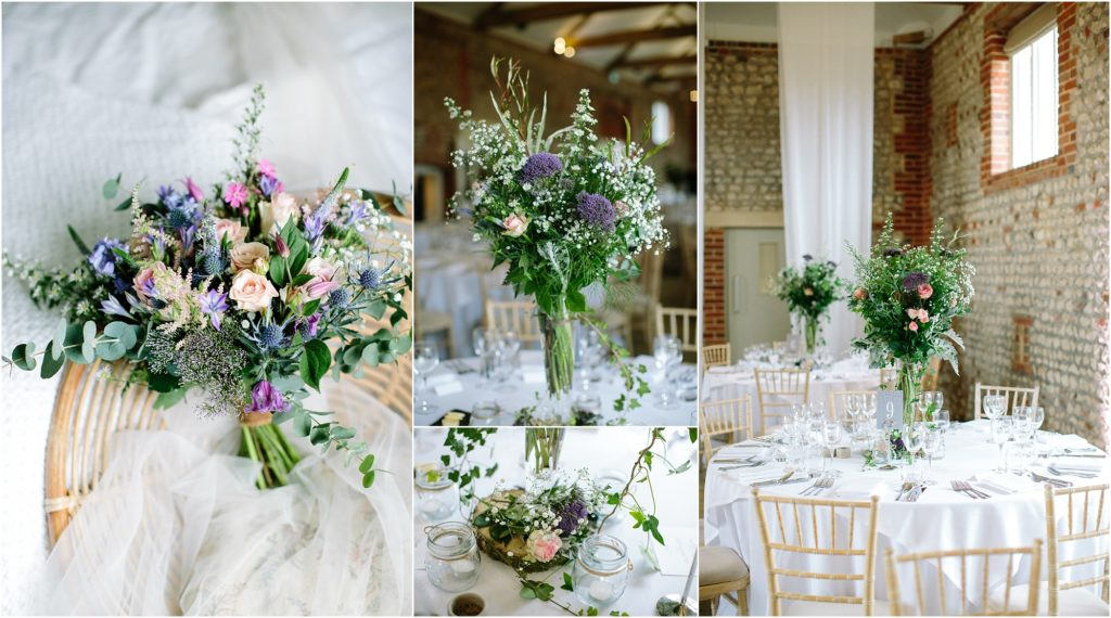 Rustic spring wedding flowers