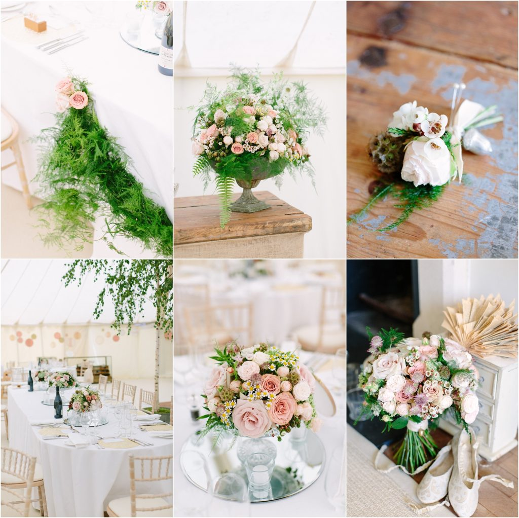 summer pastel wedding flowers