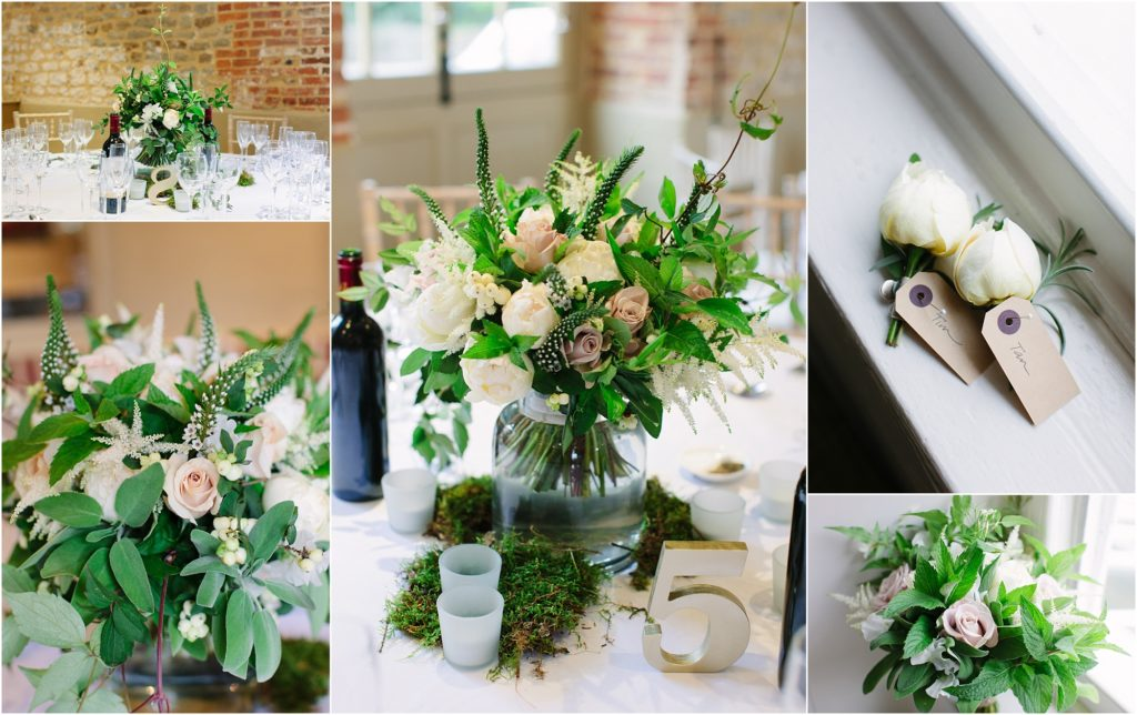elegant summer wedding flowers
