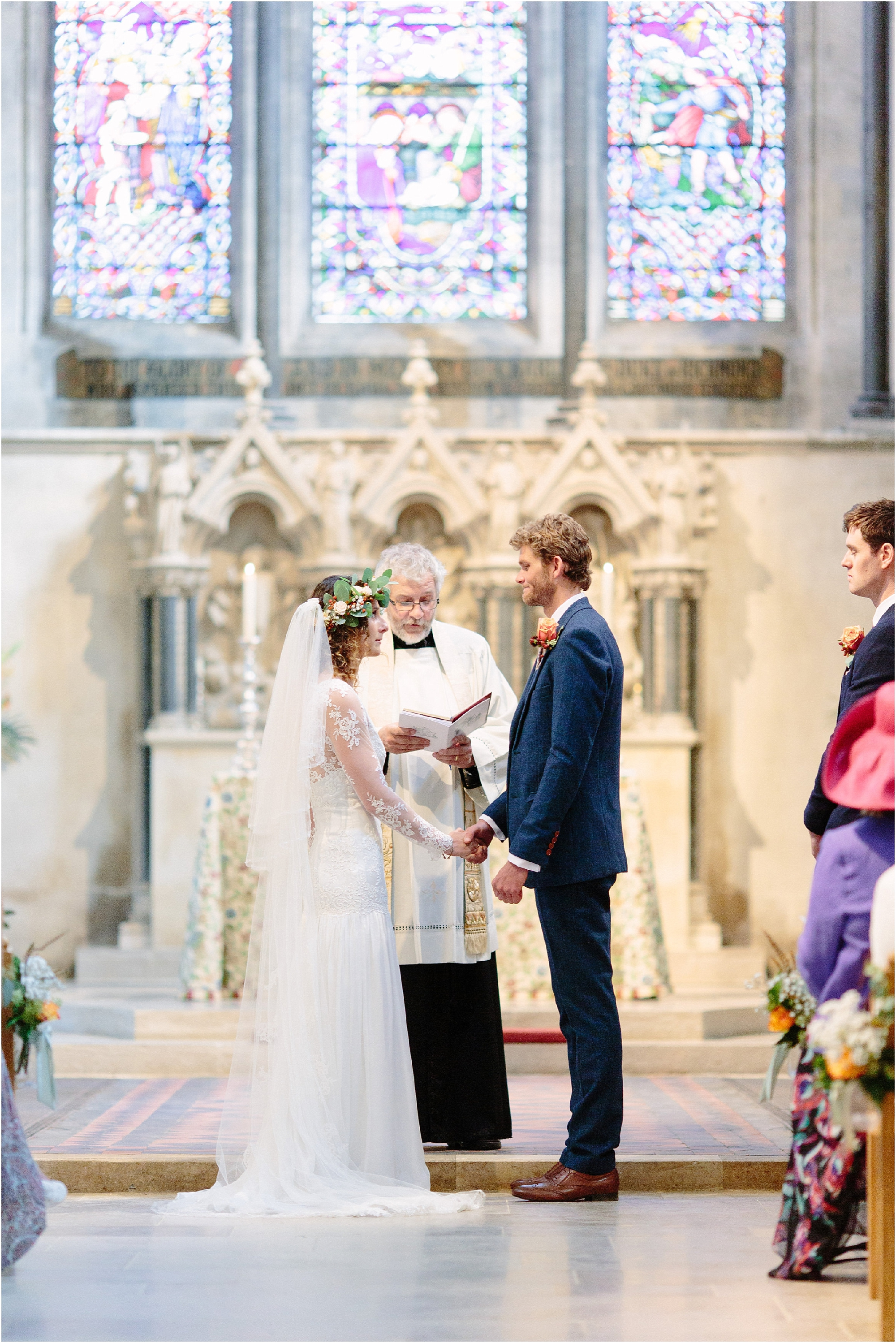 wedding at Boxgrove Priory