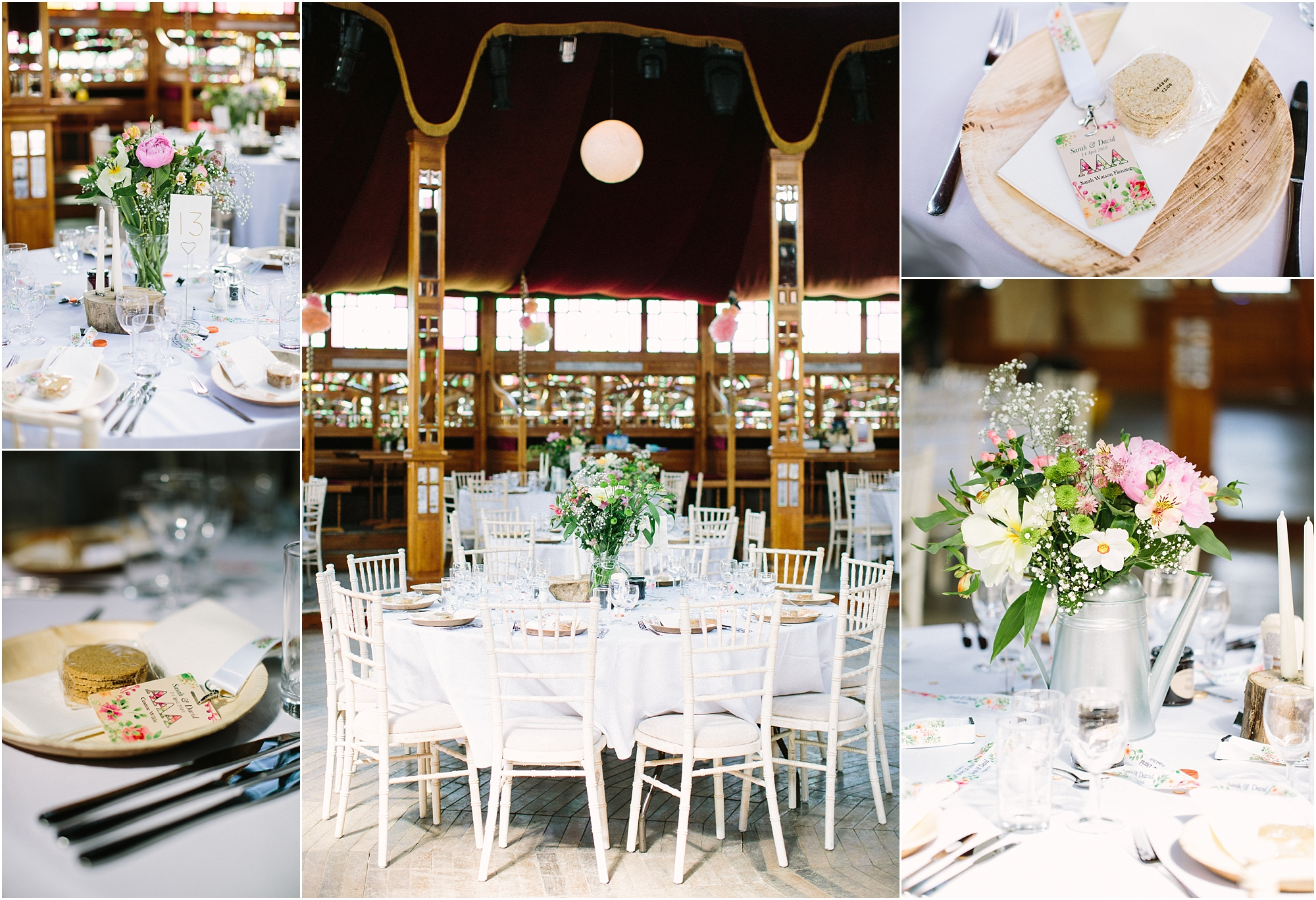 inside spiegeltent wedding