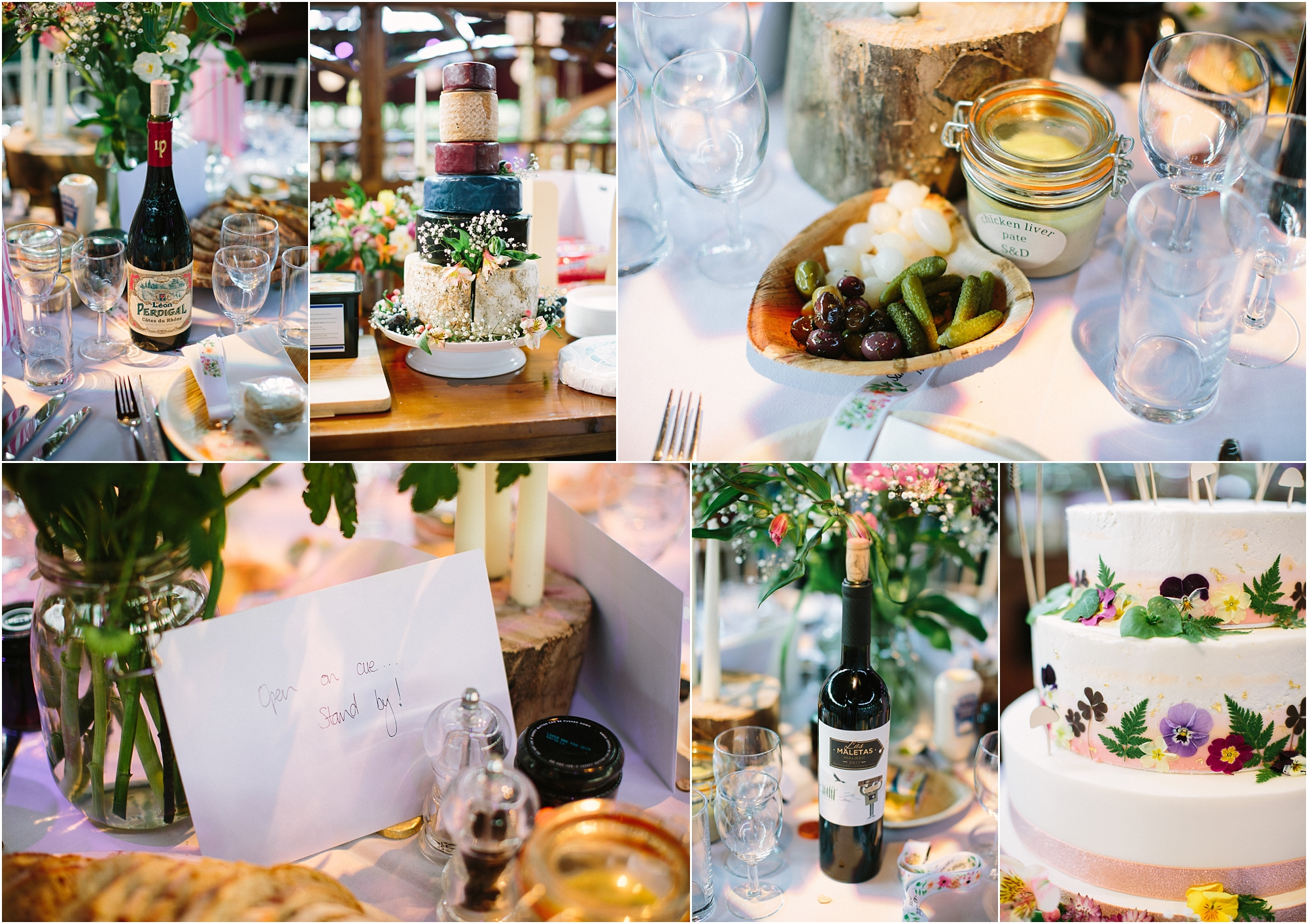 table decorations inside spiegeltent wedding