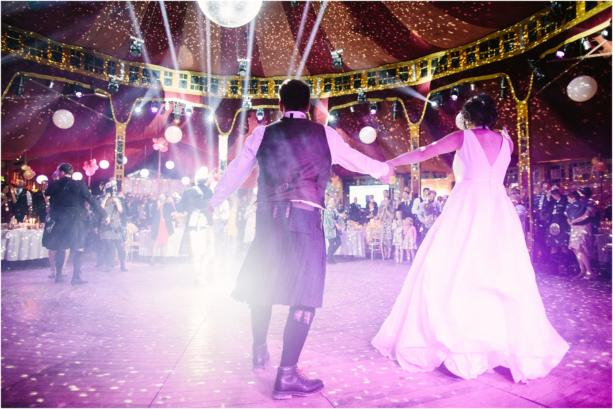 spiegeltent wedding first dance