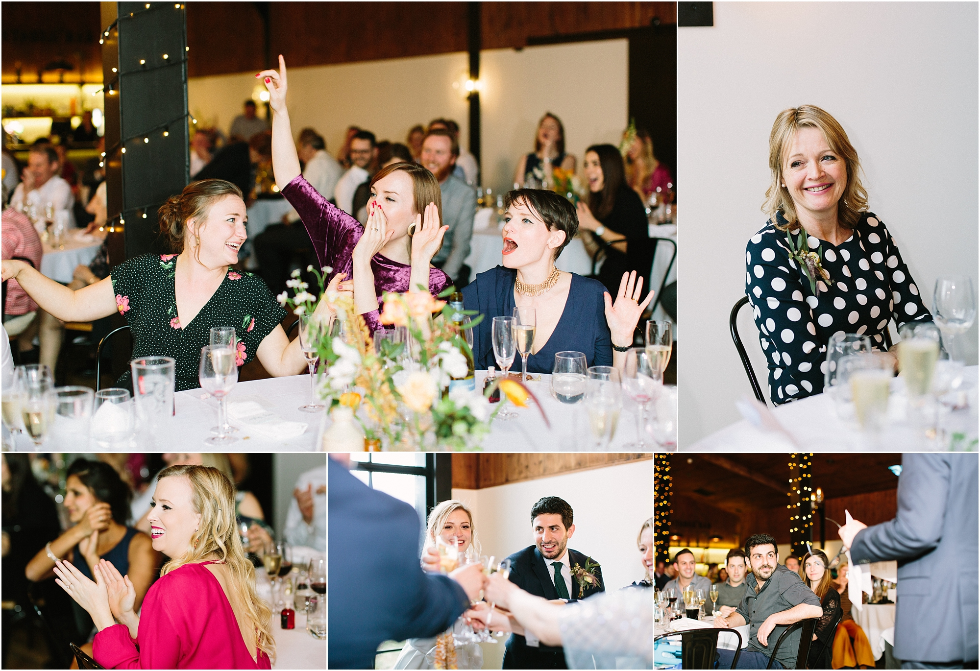 speeches and guests at Upton Barn wedding venue