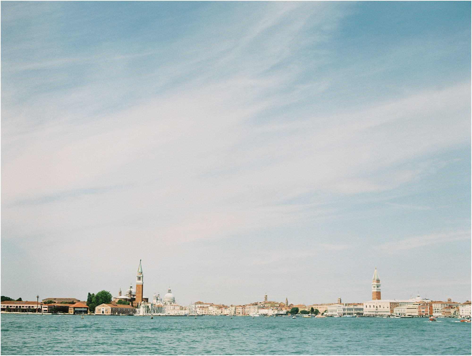 Venice Italy viewed from the water