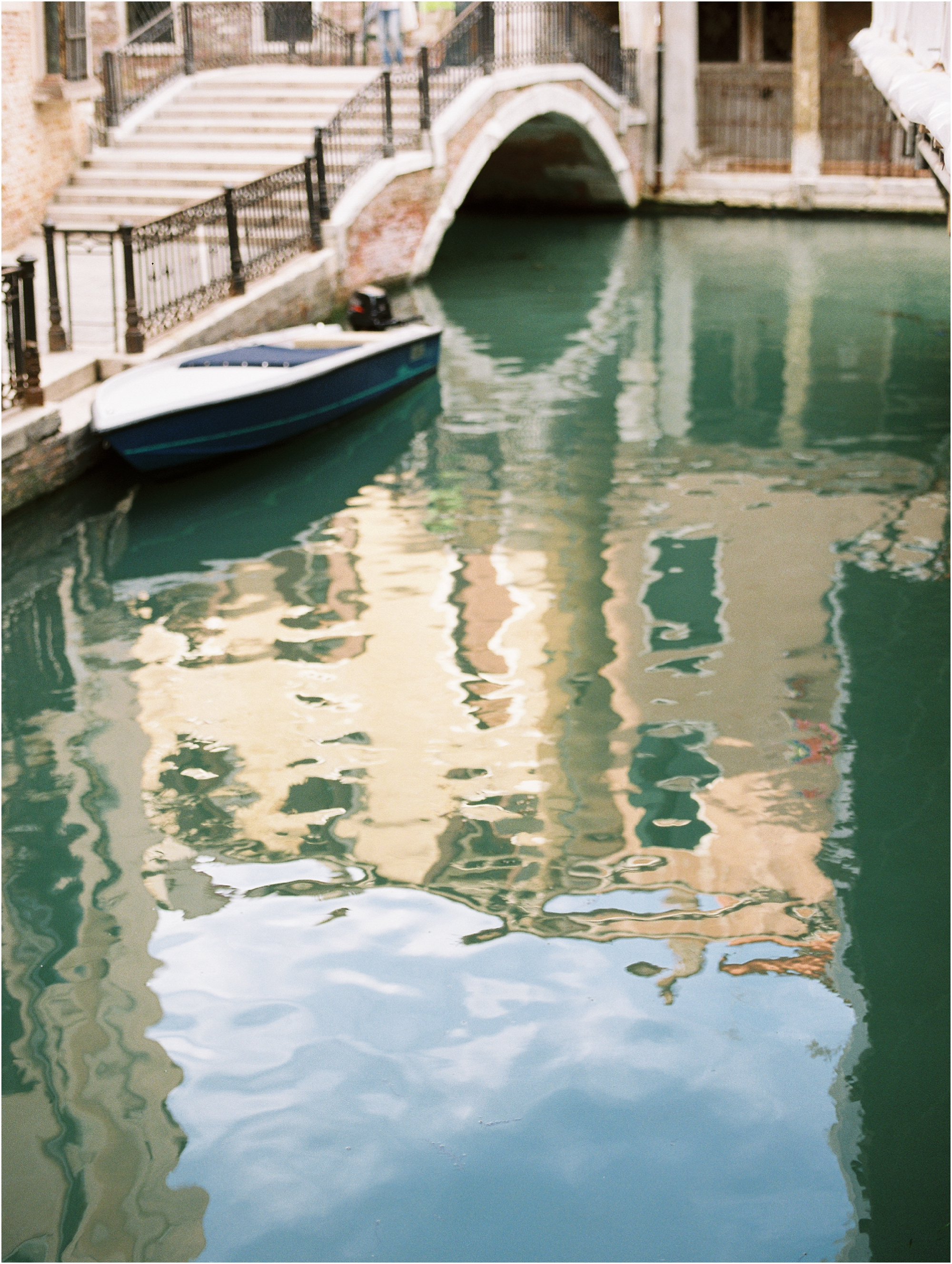 Reflection in water in Venice