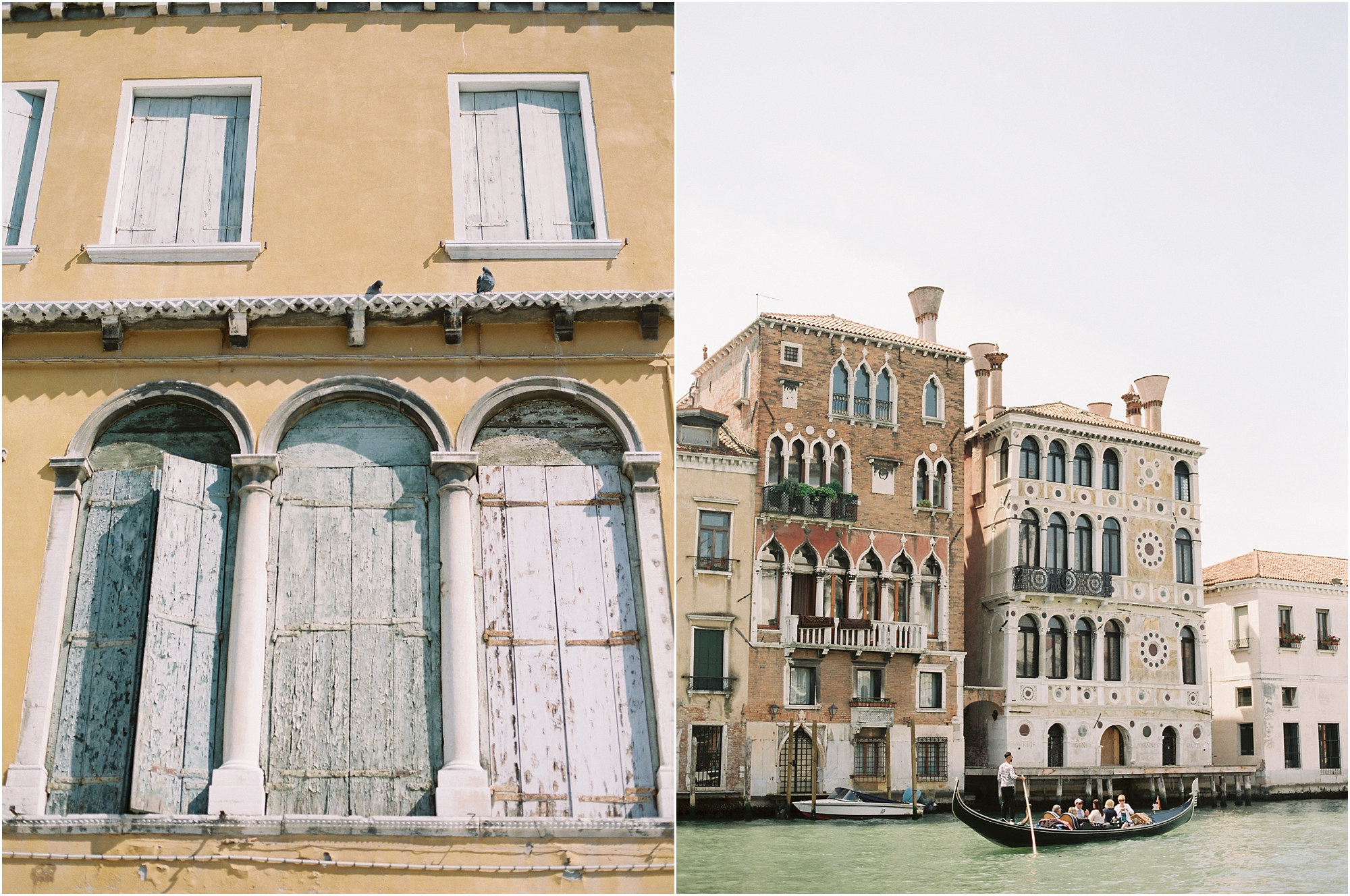 Buildings along canal in Venice Italy