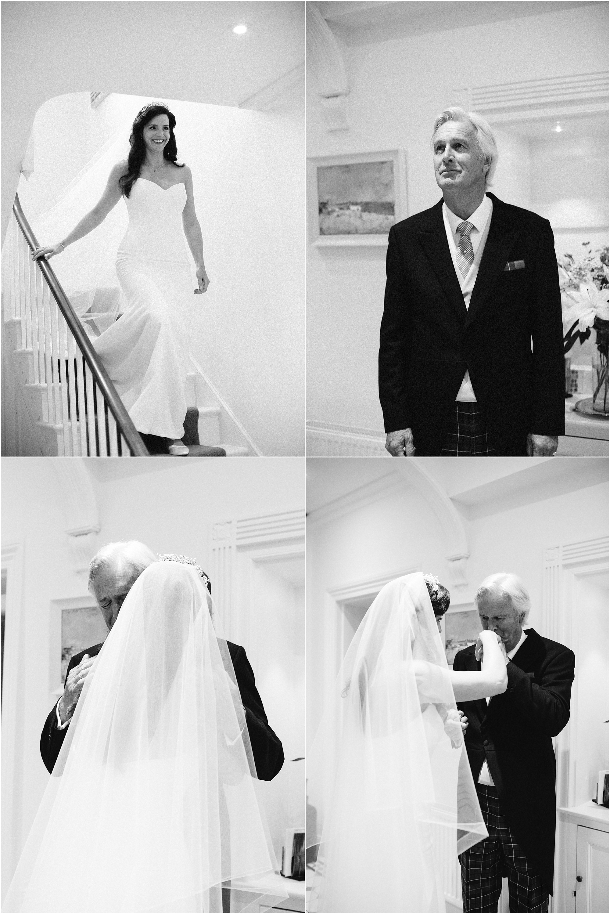 father of the bride seeing bride