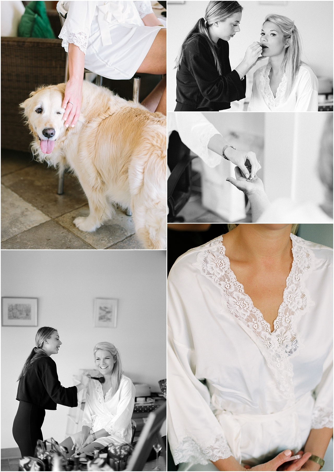 bride with family dog