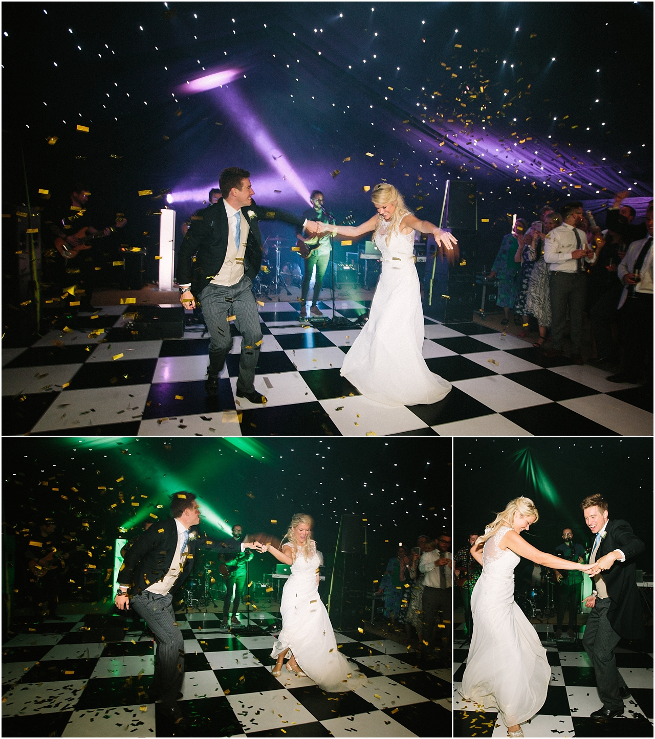 First dance with glitter canon