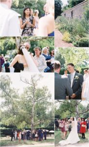 Wedding reception in the grounds of Chiddingstone Castle