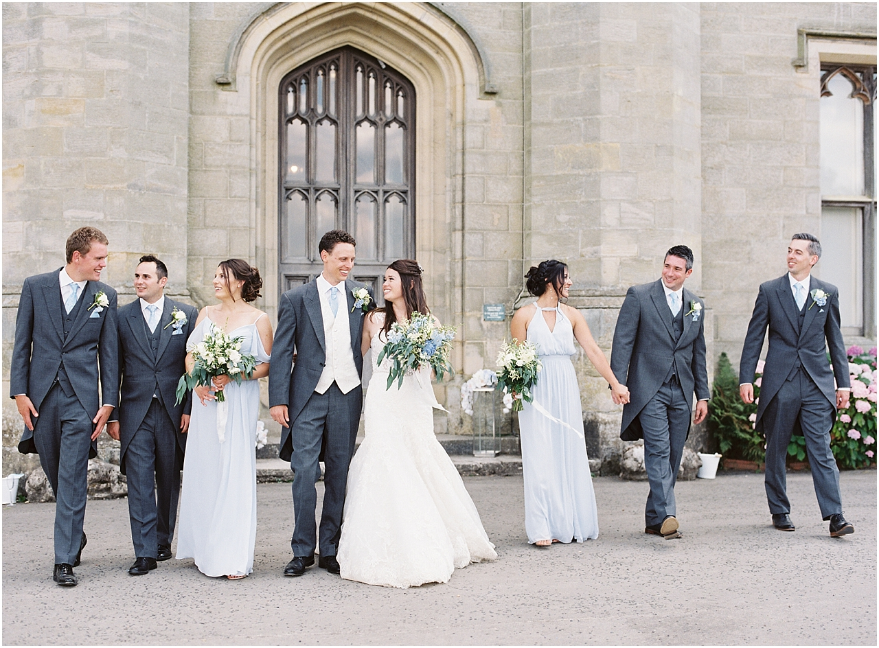 Bridal party at Chiddingstone Castle