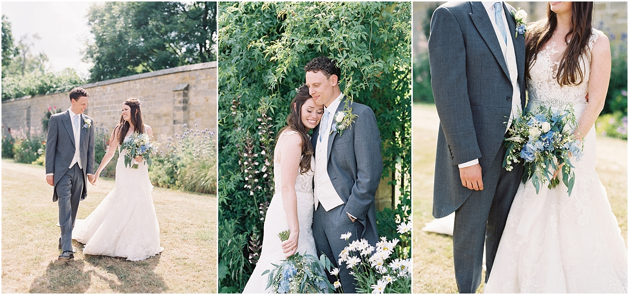 Bride and groom at Chiddingstone Castle