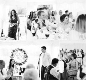 Wedding speeches at Chiddingstone Castle
