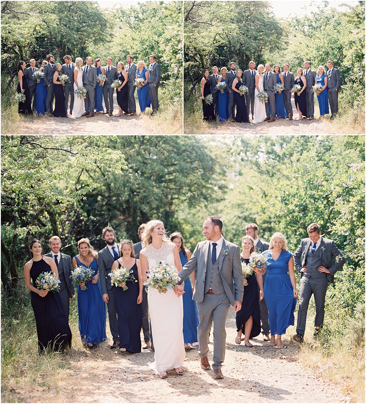 Bridal party at Tournerbury Woods