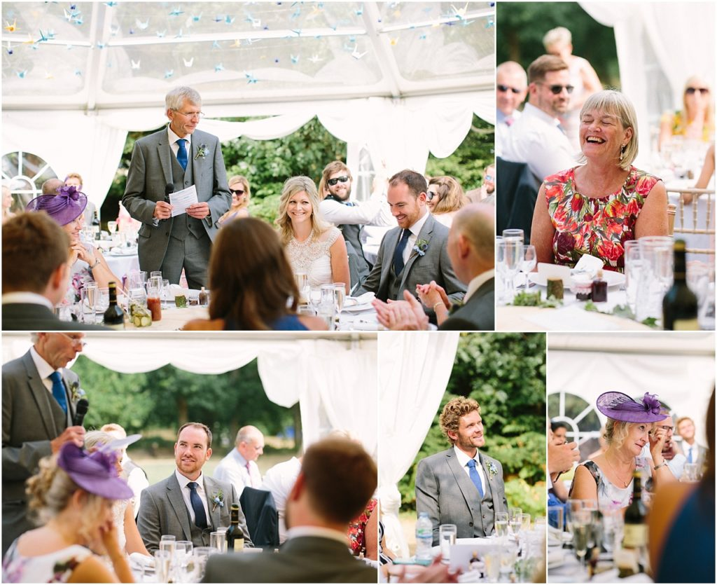 Speeches at Tournerbury Woods Wedding