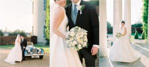 Bride and groom at Goodwood House