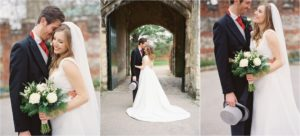 Bride and groom at Chichester Cathedral