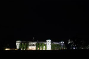 Goodwood House at night
