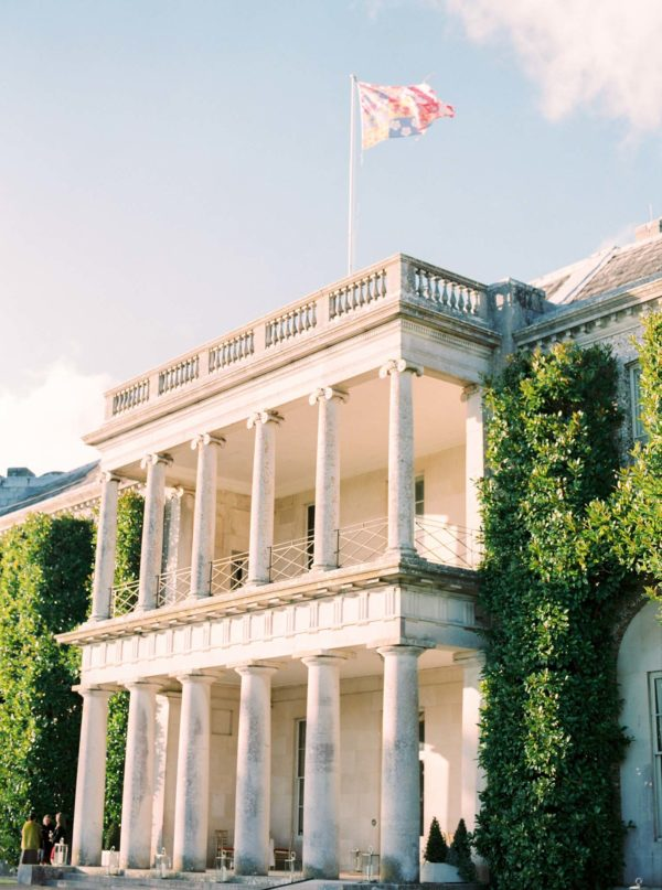 Goodwood House captured on film on a sunny winters day