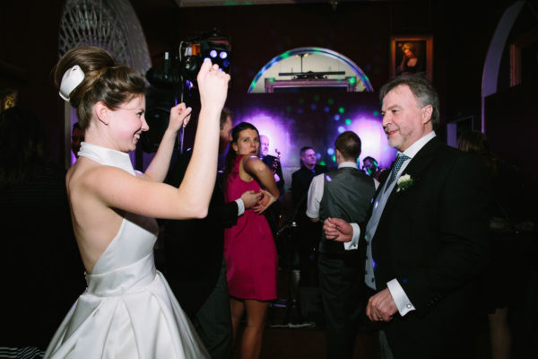 Bride dancing with her father at Goodwood House wedding