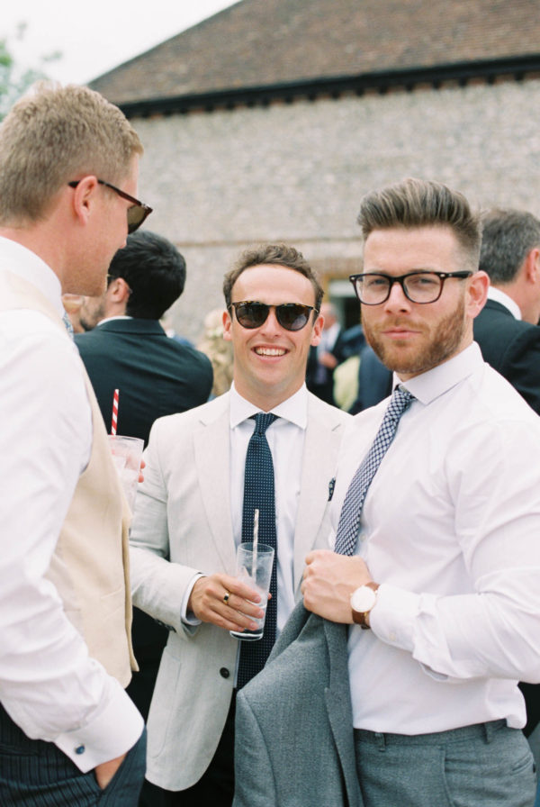 Stylish wedding guests at Sussex Garden Wedding