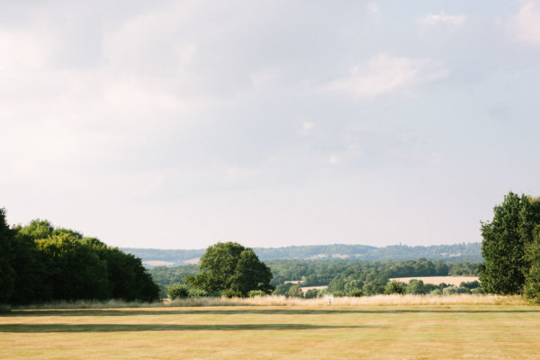 Beautiful view of the countryside from Chiddingstone Castle