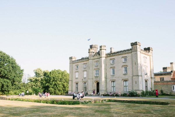 Guests soaking up the last of the summer sun outside Chiddingstone Castle