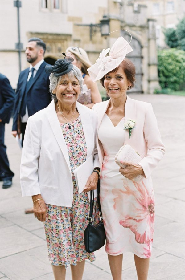 Mother and grandmother of the bride smiling happily