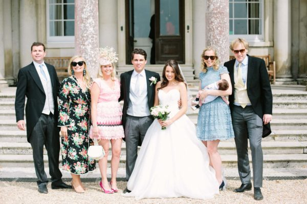 Bride with friends at Stansted House