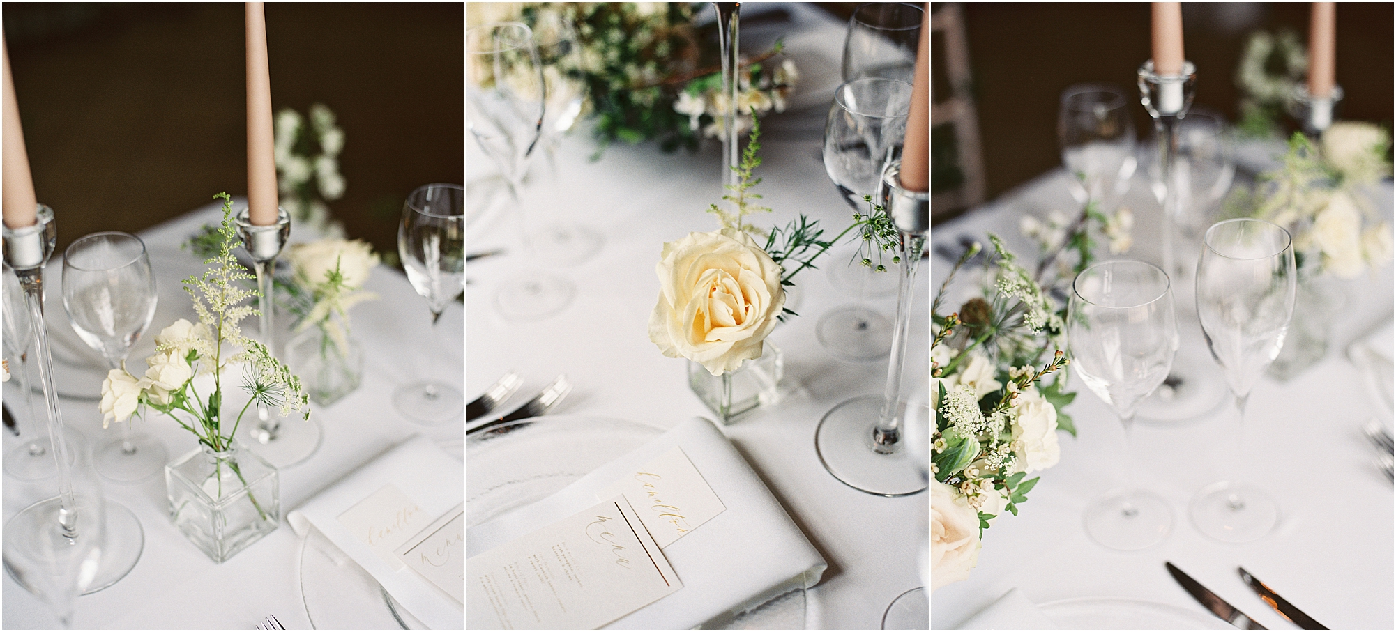 Neutral colour scheme for Thorpe Manor wedding