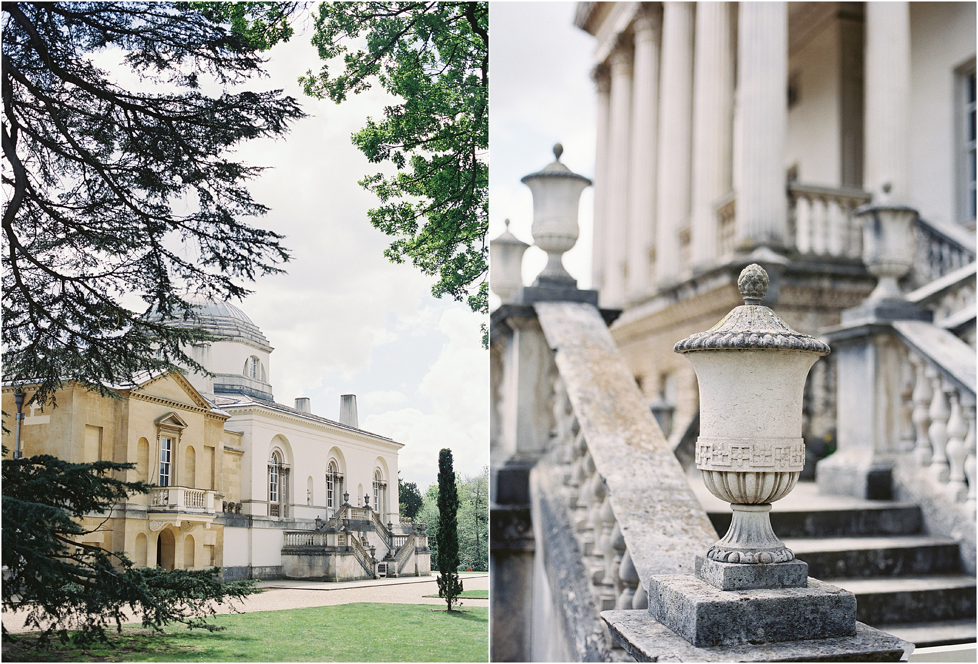 18th century architecture at Chiswick House wedding