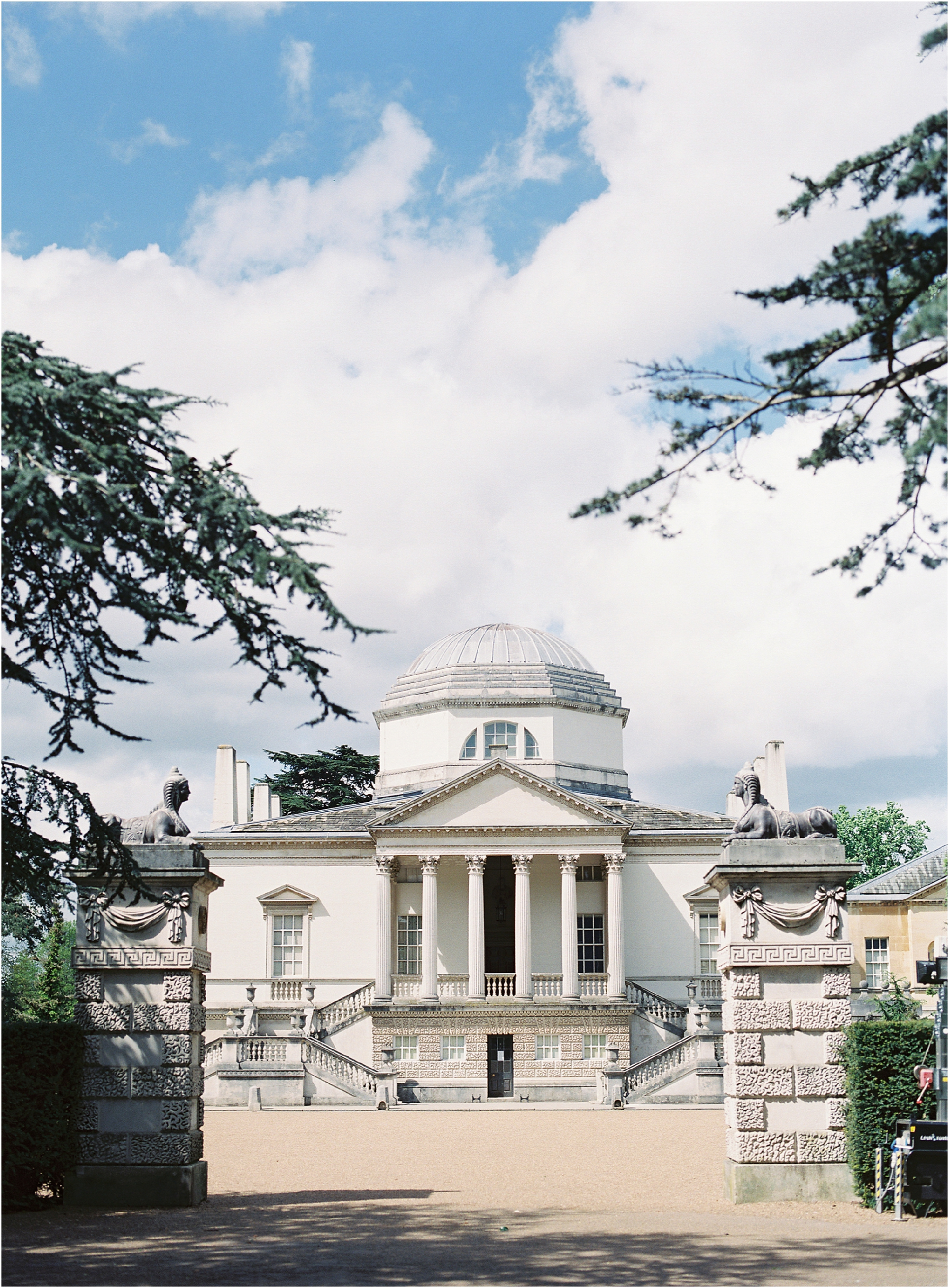 The back of Chiswick House wedding venue London