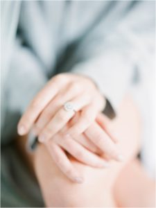 Soft focus image of engagement ring