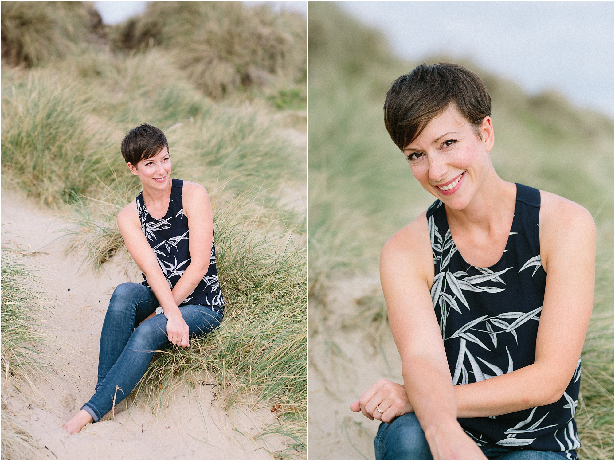 Camilla Arnhold Photography Luxury UK Film Wedding Photographer on sand dune Dorset