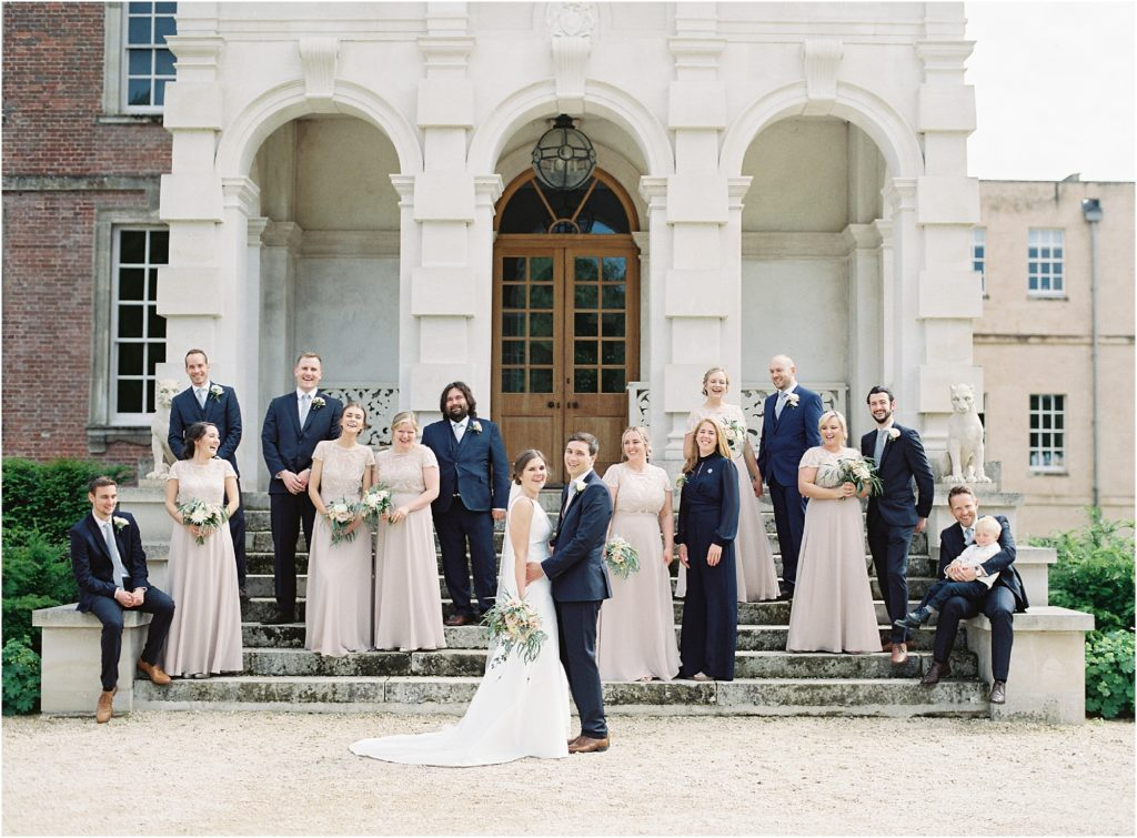 Bridal party at St Giles House wedding