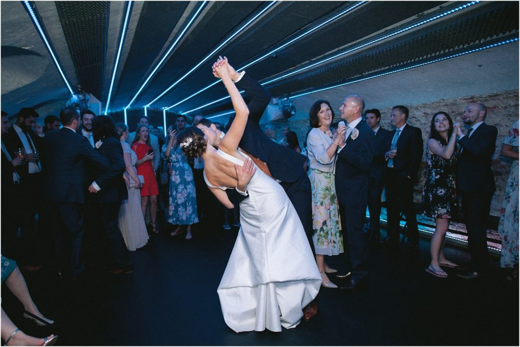 First dance in the basement of St Giles House