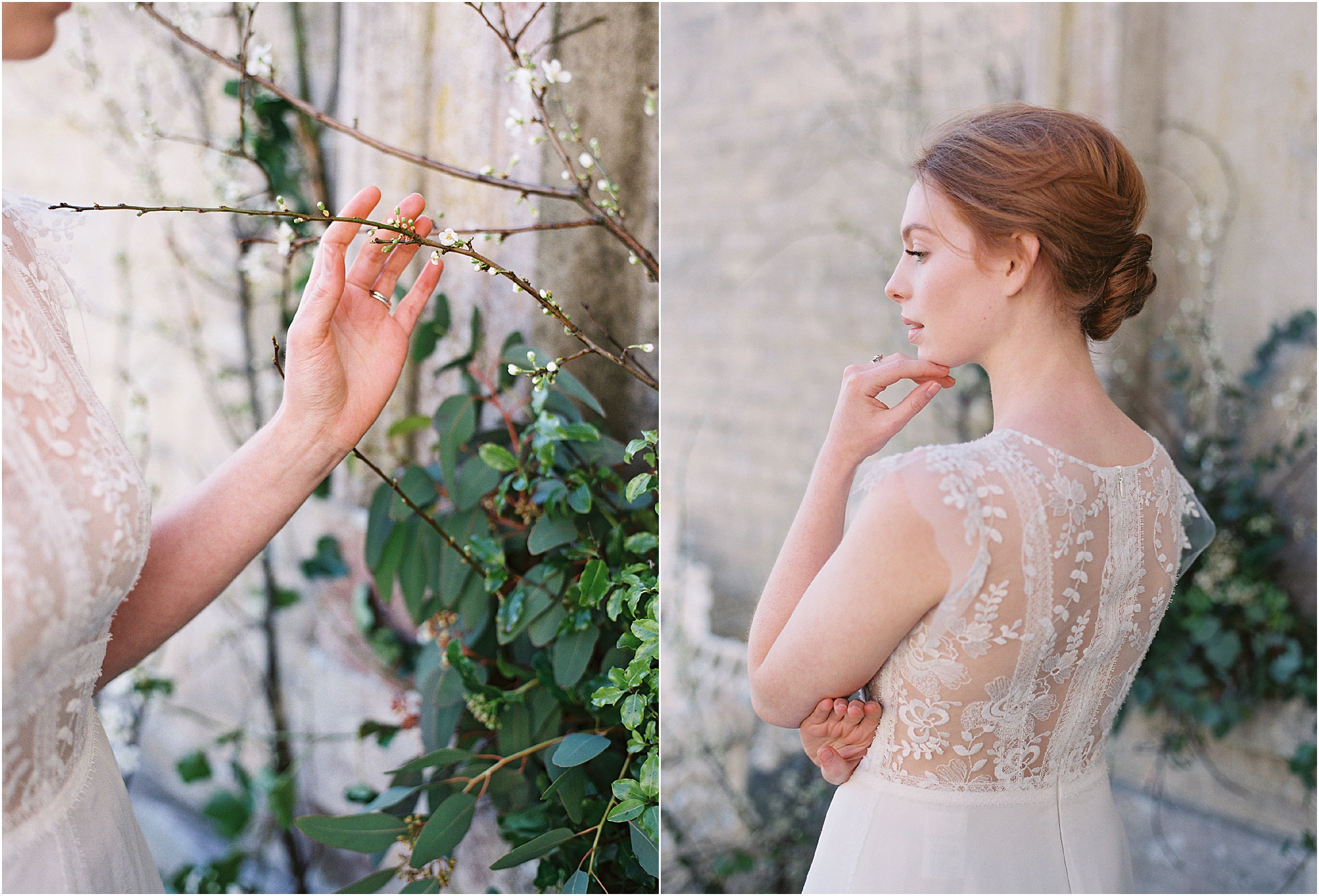 Timeless red haired bride at Somerley House wedding venue