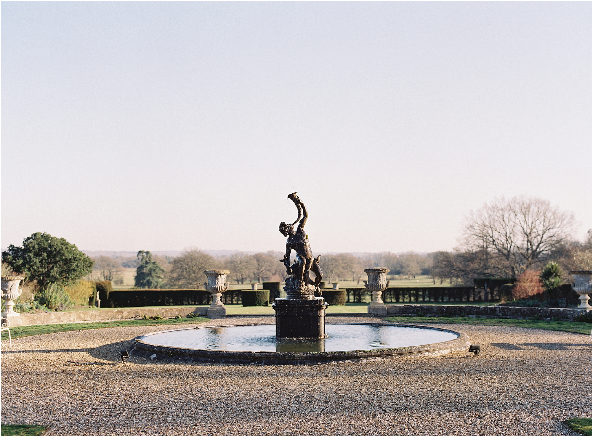 The fountain at Somerley House