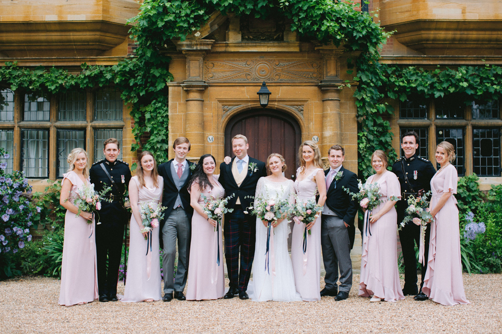 Bridal party at Trinity Hall wedding