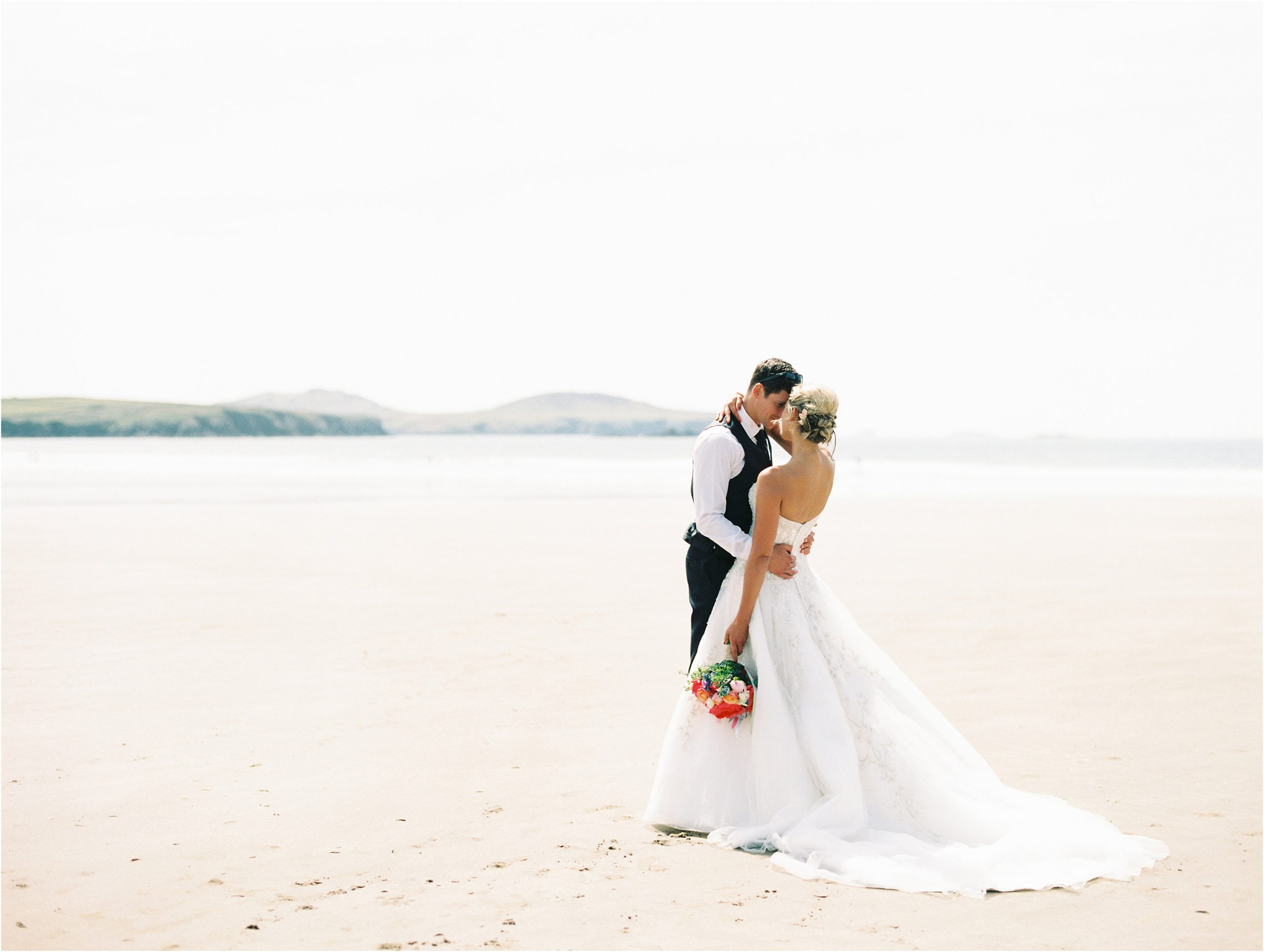 Wedding couple captured on film by UK wedding photographer Camilla Arnhold